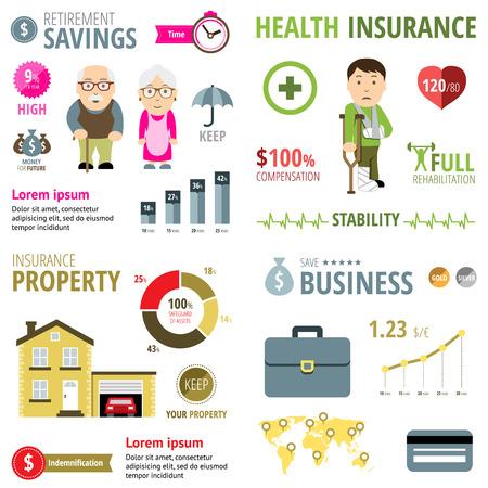 Assurance Infographie Banque d'images - 35391331