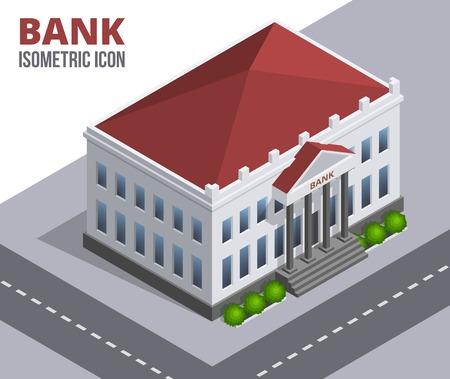Vector bank building Stock Illustratie