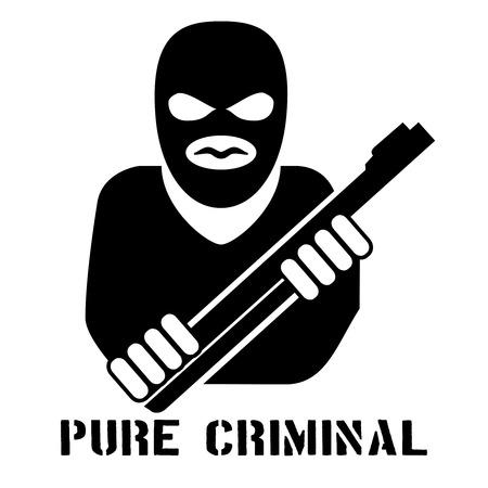 Criminal person icon