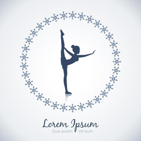 Yoga vector logo template Vector