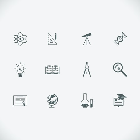 buld: Education and learning modern line icons Illustration
