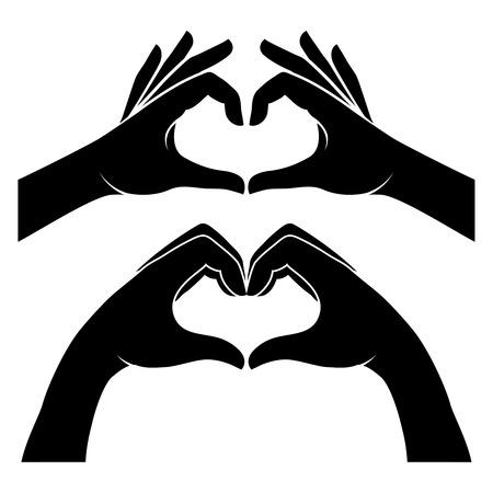 Hände in Form von Herzen