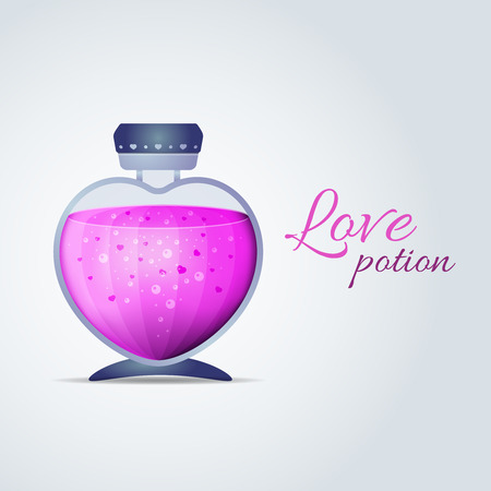 desirability: Vector Love Potion for Valentines Day cards