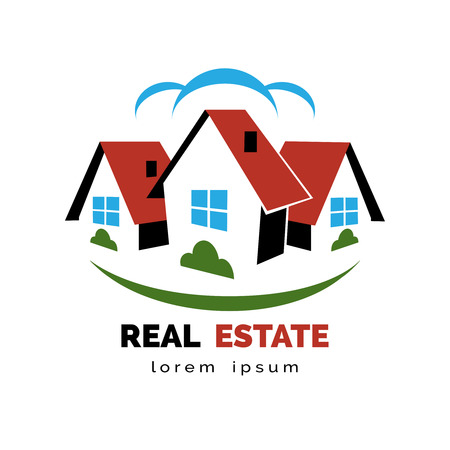 rural home: House or real estate logo