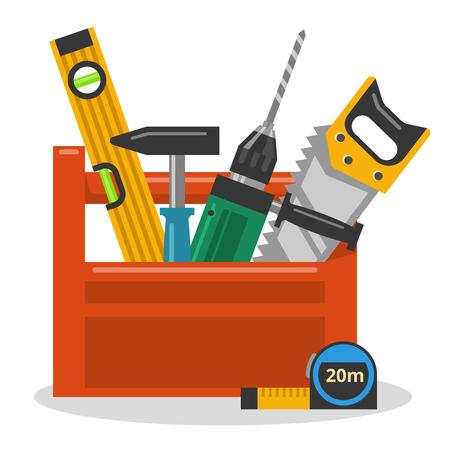 handy man: Strumenti a toolbox Vettoriali