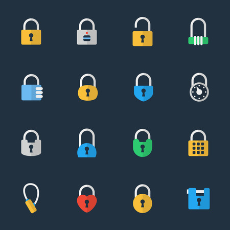 padlock icon: Vector padlock icons Illustration