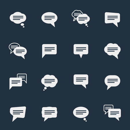 examples: Simple speech bubble icons Illustration