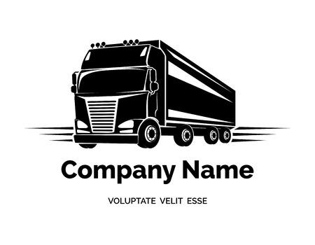 cargo truck: Vector cargo truck icon Illustration