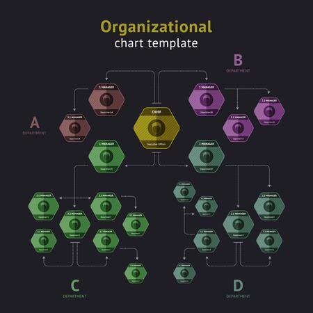 organization design: Vector organization chart