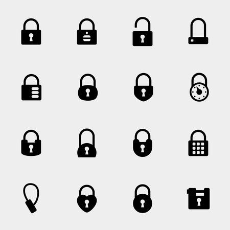 Eenvoudig hangslot pictogrammen