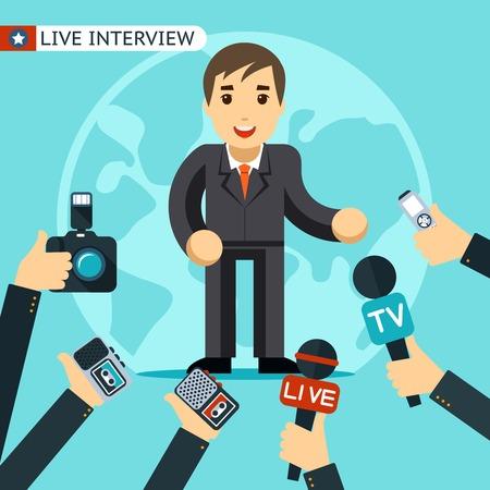 tape recorder: Ilustración Entrevista
