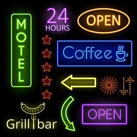 fluorescent: Neon glow signs