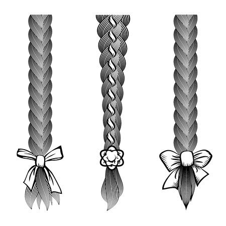 braids: Hair braids set