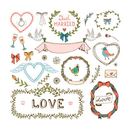 Elements for wedding invitations
