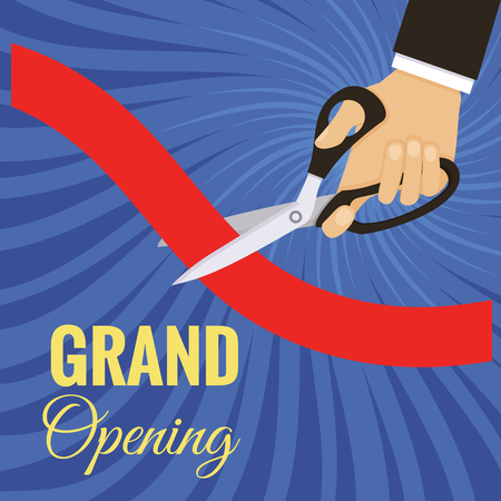 Vector grand opening card Illustration
