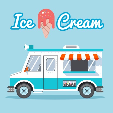 delivery truck: Ice cream truck