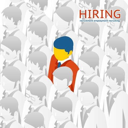 recruitment: Choice person for hiring Illustration