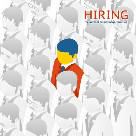 recruter: Personne choix pour l'embauche Illustration