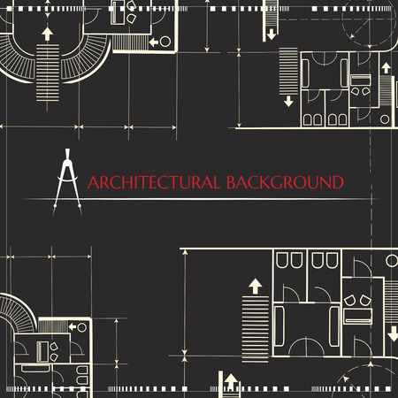 Vector architectural background Illustration