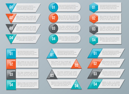 numbering: Vector Number Options for Infographics Illustration