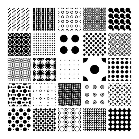 circumference: Peas, circles and polka dots pattern set
