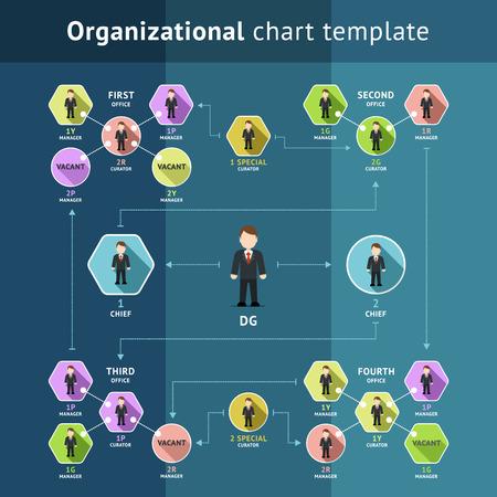 Zakelijke organisatiestructuur Stock Illustratie
