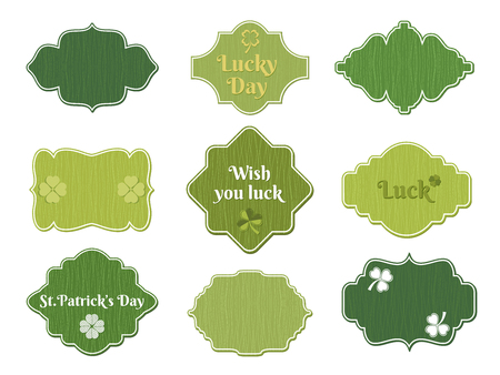 patric banner: st patricks day labels