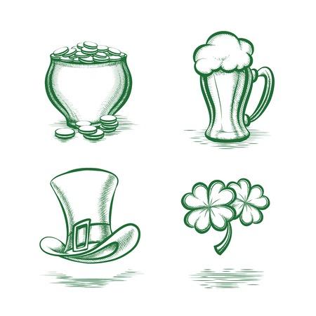 leprechaun background: St Patricks Day Symbols