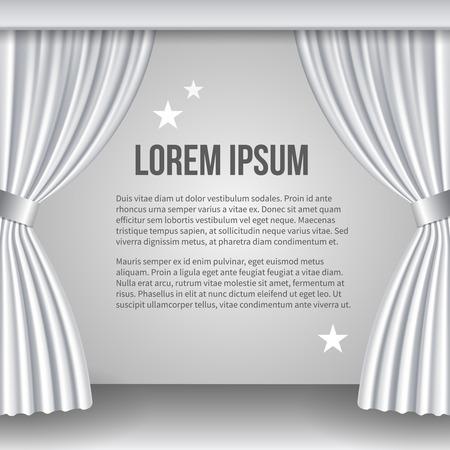 white curtain: Open white curtain