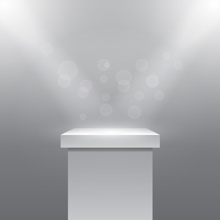 light rays: Vector Pedestal Illustration