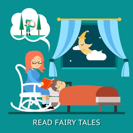 fairy: Read fairy tales Illustration