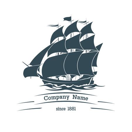 caravelle: Big voile icône de navire