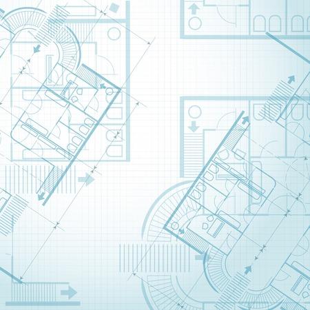 dessin au trait: Architectural plan de fond