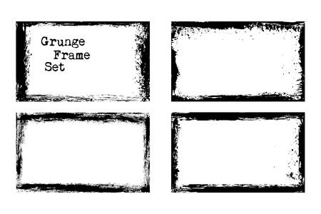 Vector grunge frame templates  イラスト・ベクター素材