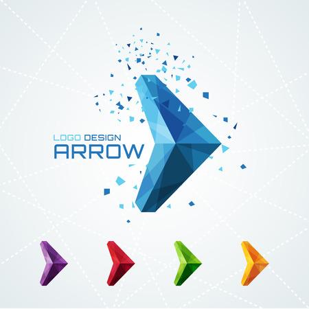 symbol: Freccia astratta triangolare