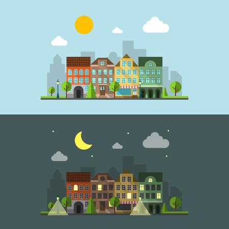 Plat ontwerp stedelijk landschap
