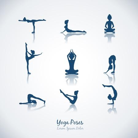 joga: Vector yoga poses Illustration