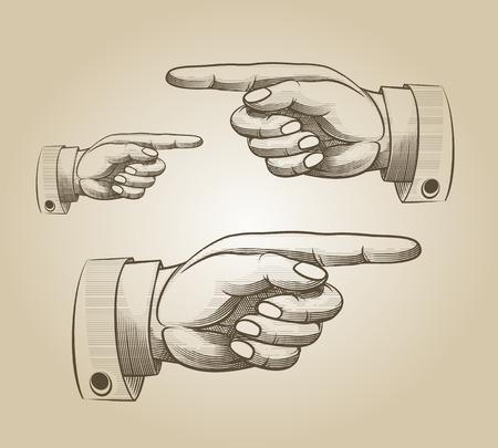 Retro richten hand