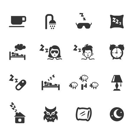 pillow sleep: Sleep icons