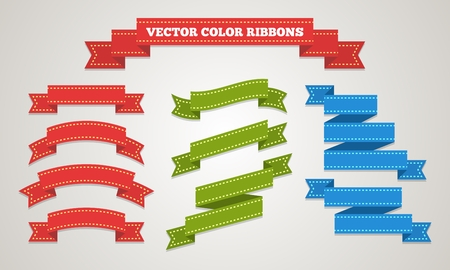 Gift ribbons decor in vintage style Vector