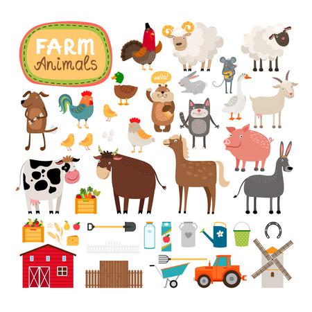 животные: Вектор Ферма животных Иллюстрация