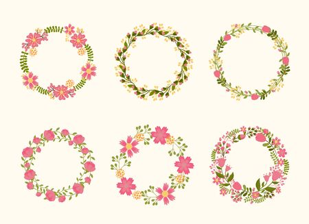 cute vector wreath frames for wedding invitations royalty free cliparts vectors and stock illustration image 37489703 - Wreath Frames