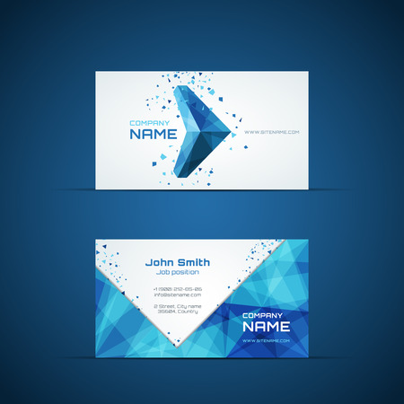 Flecha azul plantilla de tarjeta de visita