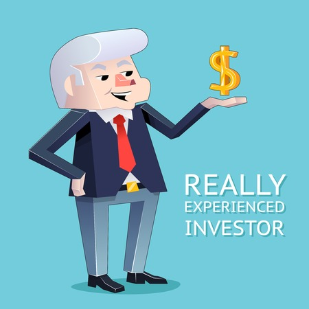 investor: Experienced investor businessman character