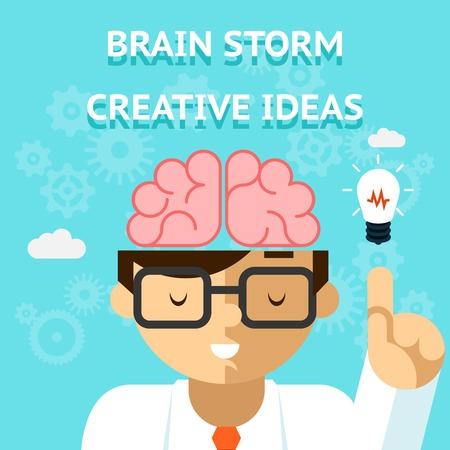 mind power: Brain storm creative idea concept