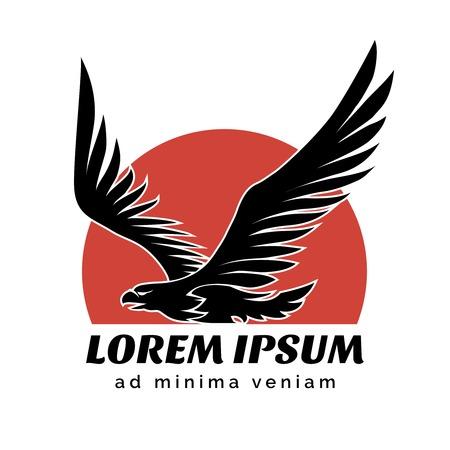 soaring: Eagle over Sun logo sign
