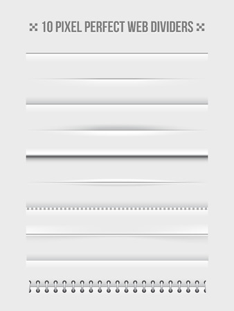 Web dividers design elements
