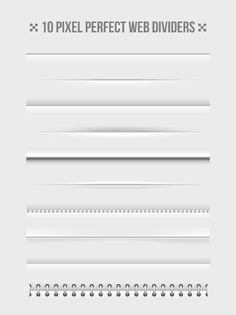 Web dividers design elements Vector