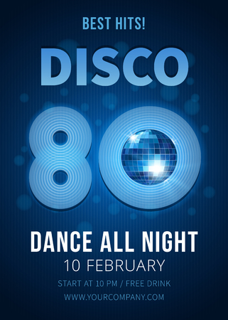 disco symbol: Disco party. Best hits of the 80s