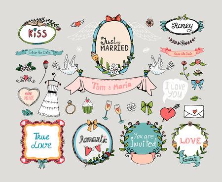 Hochzeits-Grafiksatz